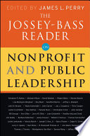 The Jossey Bass Reader On Nonprofit And Public Leadership