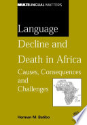 Language Decline and Death in Africa Book