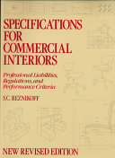 Specifications for Commercial Interiors