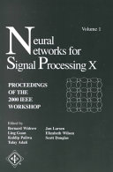 Neural Networks for Signal Processing X Book