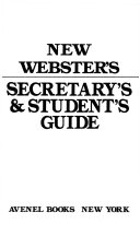 New Webster s Secretary s and Student s Guide