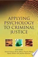 Applying Psychology To Criminal Justice Book PDF