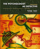 Cover of The Psychologist as Detective