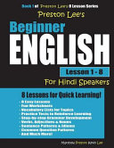 Preston Lee s Beginner English Lesson 1   8 for Hindi Speakers