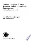 Flexible Learning Human Resource And Organisational Development Book PDF