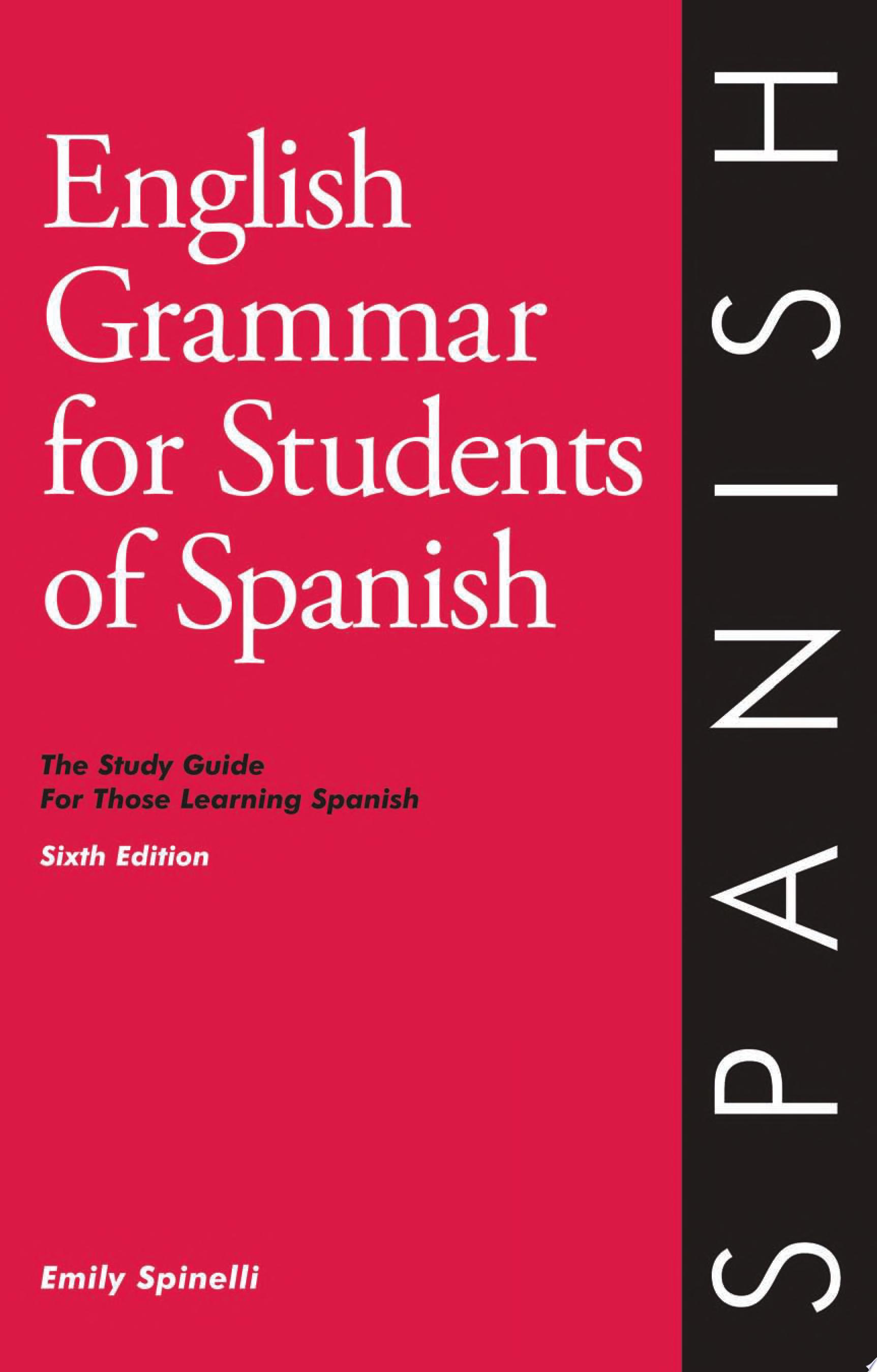 English Grammar for Students of Spanish