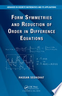 Form Symmetries and Reduction of Order in Difference Equations