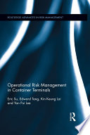 Operational Risk Management in Container Terminals Book