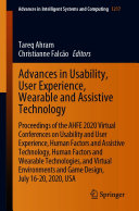 Advances in Usability  User Experience  Wearable and Assistive Technology