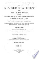 The Revised Statutes of the State of Ohio, Including All Laws of a General Nature in Force January 1, 1890 Pdf/ePub eBook