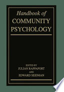 Handbook Of Community Psychology
