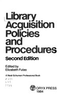 Library Acquisition Policies and Procedures