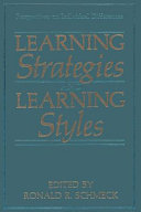 Thumbnail Learning strategies and learning styles