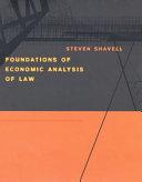 Foundations of Economic Analysis of Law Pdf/ePub eBook