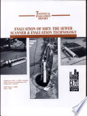 Evaluation of SSET: The Sewer Scanner and Evaluation Technology
