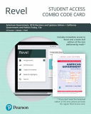 Revel For American Government California Government And Politics Today Combo Card
