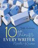 Ten Things Every Writer Needs to Know
