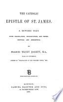The Catholic Epistle of St  James Book PDF