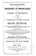 The Treasury of Knowledge and Library of Reference  A compendious English grammar
