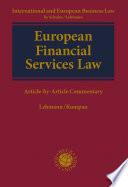 European Financial Services Law Book