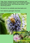 Data  facts  background and hypotheses with participatory actions about the of wild bee dying  flying insect dying and honey bee dying     and becoming extinct