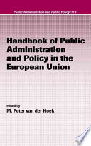 Handbook of Public Administration and Policy in the European Union