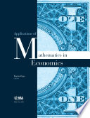 Applications of Mathematics in Economics