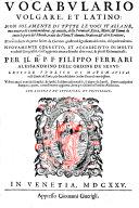 Dictionarium latino lusitanicum, ac iaponicum, ex Ambrosii Calepini volumine depromptum, etc