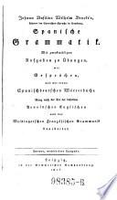 Spanische Grammatik. 2. Ausg