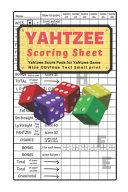 Yahtzee Scoring Sheet