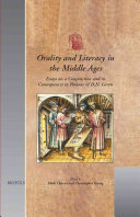 Orality and Literacy in the Middle Ages