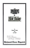 Insiders Guide to Virginia s Blue Ridge