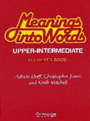 Meanings Into Words Upper-intermediate Student's Book