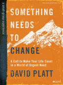 Something Needs to Change   Bible Study Book