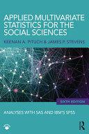 Applied Multivariate Statistics for the Social Sciences [Pdf/ePub] eBook