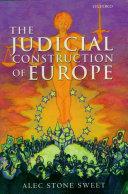 The Judicial Construction of Europe ebook