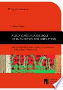 Aluta Continua Biblical Hermeneutics For Liberation