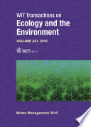 Waste Management and the Environment IX