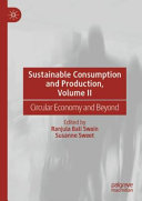 Sustainable Consumption and Production  Volume II Book