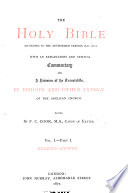 The Holy Bible  Genesis