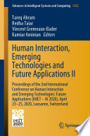 Human Interaction  Emerging Technologies and Future Applications II