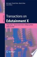 Transactions on Edutainment X