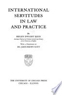 International Servitudes In Law And Practice