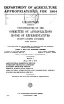 Agricultural Appropriation Bill ...