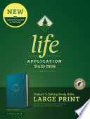 NLT Life Application Study Bible  Third Edition  Large Print  Leatherlike  Teal Blue  Indexed