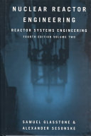Nuclear Reactor Engineering Book