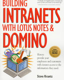 Building Intranets With Lotus Notes Domino Book PDF