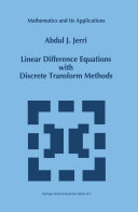Linear Difference Equations with Discrete Transform Methods