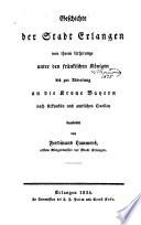 Geschichte der stadt Erlangen