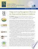 Tillage And Crop Management Effects On Air Water And Soil Quality In California Book PDF